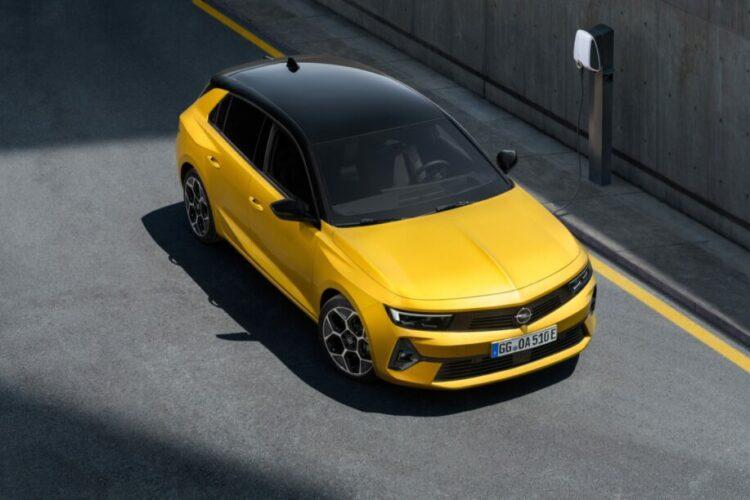 Opel Astra 2022 bovenkant